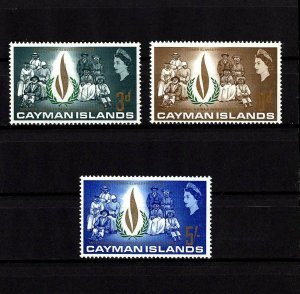 CAYMAN IS - 1968 - QE II - HUMAN RIGHTS YEAR - FLAME - MINT - MNH - SET!