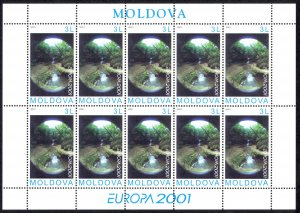 Moldova Sc# 376 MNH Pane/10 2001 Europa