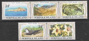 Norfolk Islands #288-a-c, d-e Philip Island (MNH) CV$1.25