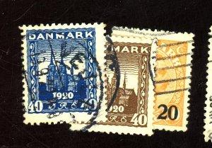 DENMARK 158 160 176 USED FVF Cat $34