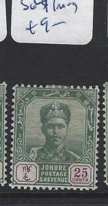 MALAYA  JOHORE   (PP2507B)  25C  SG 47    MOG