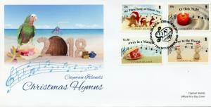 Cayman Islands 2018 FDC Christmas Carols Holy Night Away Manger 4v Cover Stamps