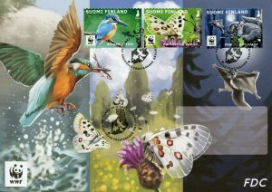 Finland Europa Stamps 2021 FDC Endangered Natl Wildlife Kingfishers Birds 3v S/A