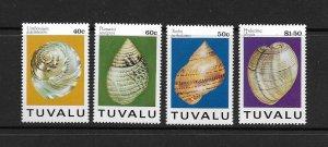 SHELLS - TUVALU #671-4   MNH
