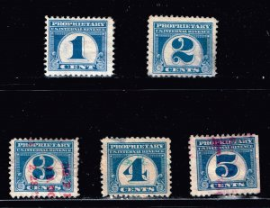 US STAMP BOB REVENUE PROPRIETARY STAMPS COLLECTION LOT #2