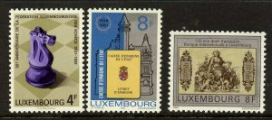 Luxembourg 659-61 MNH Chess, State Bank, First Bank Note
