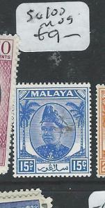 MALAYA SELANGOR (P1108B) 15C  SG100  MOG