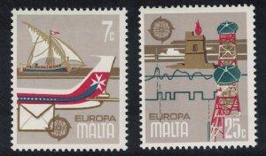 Malta Ship Aircraft Europa Communications 2v 1979 MNH SG#625-626