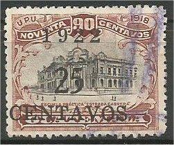 GUATEMALA, 1922, used  25c on 90c, Surcharged Scott 183