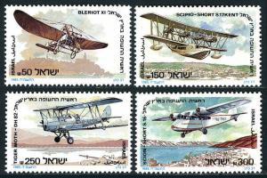 Israel 900-903, MNH. Aviation in the Holy Land, 1985
