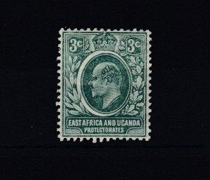 East Africa & Uganda KEVII 3c SG35a Cat £26 MH JK3855