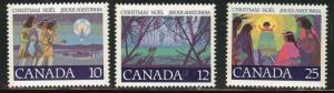 Canada Scott 741-743 MNH**  Christmas 1977 stamp set