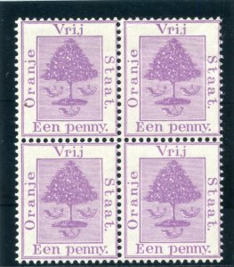 Orange Free State 1894 QV 1d purple block of four superb MNH. SG 68. Sc 4.