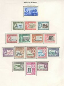Virgin Islands Stamps 1963-64 Mint Hinged, Approx. CV. as NH $84 (JH 9/22) GP