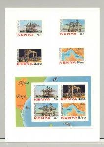 Kenya #238-241a Ports, Maps 4v & 1v S/S Imperf Proofs Mounted in Folder