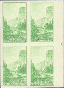 United States #766, Complete Set, Margin Block of 4, Arrow at Side, 1935, Min...