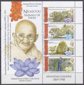 2016 Niuafo'ou 603-606/B67 Animals in India 23,00 €​​​​​​​