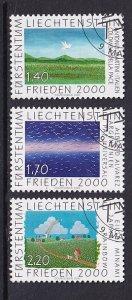 Liechtenstein   #1182-1184   cancelled  2000  mouth and foot painters