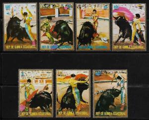 Equatorial Guinea #75101-75109 MNH CV€3.50 Tauromaquia Faena Corrida de Toros