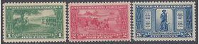 #617-619 Lexington-Concord Sesquicentennial 1925 Mint H OG