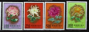 J22968 JLstamps 1974 taiwan china set mnh #1901-4 flowers
