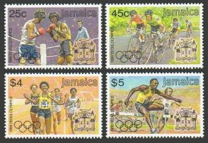 Jamaica 694-697,697a,MNH. Olympics Seoul-1988.Boxing,Bicycling,Running,Hurdling.