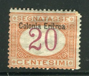 ITALIAN COLONIES; ERITREA early 1900s Postage Due issue Mint hinged 20c. value