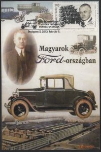 HUNGARY #4261, MAXIMUM CARD - 100th ANN of FORD MOTOR Co ASSEMBLY LINE