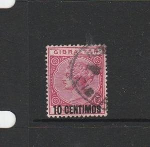 Gibraltar 1889 10c Opt Used SG 16