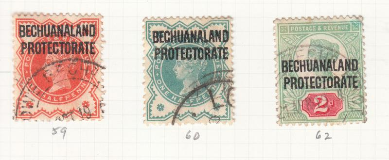 BECHUANALAND 1897-1904 VALUES SG59 TO SG69