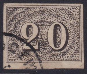 BRAZIL 1854-61 - an old forgery of a classic stamp..................5774