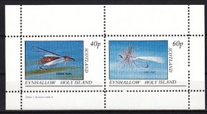 Eynhallow, 1982 issue. Fly Fishing Lures on a sheet of 2. E6 ^