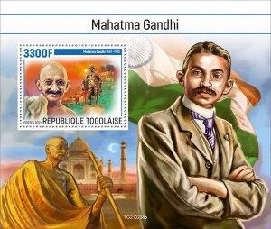 TOGO - 2021 - Mahatma Gandhi - Perf Souv Sheet - Mint Never Hinged