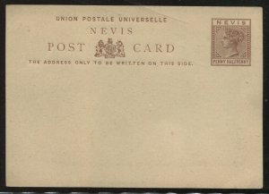Nigeria QV 1 1/2d brown Post Card unused
