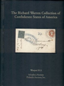 CONFEDERATE STATES OF AMERICA, WARREN COLLECTION CATALOG 2013, RUMSEY AUCTIONS
