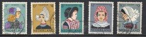 Netherlands Sc B348-52 1960 Regional Costumes Child Welfare stamp set used