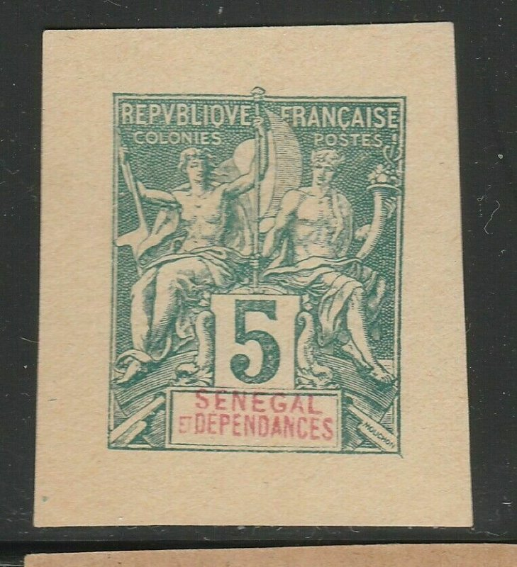 French Senegal France Postal Stationery Cut Out A17P2F348