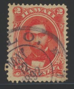 Hawaii 31 used w/May 12, 1892 pmk - 2 cents Elua Keneta