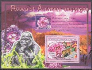 2007 Guinea 4730/B1176 Rose and antelope 7,00 €