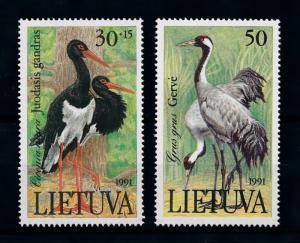 [79002] Lithuania 1991 Birds Vögel Oiseaux  MNH