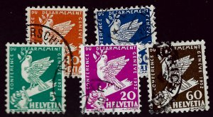 Switzerland #210-214 Used F-VF SC $12.50  ....Chance to buy a real Bargain!