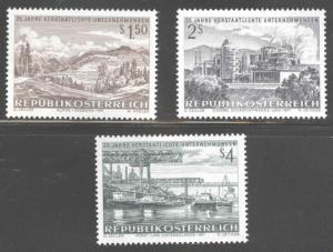 Austria Scott 908-910  MNH** 1971  Industry stamp set