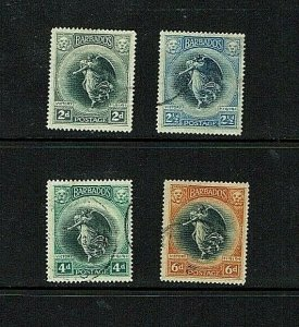 Barbados: 1920, Victory, selection of fine used, high catalogue,