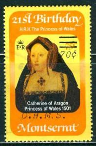 Montserrat; 1983; Sc. # O62; O/Used Single Stamp
