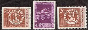 Sweden # 553 - 555 U