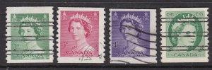 CANADA   ^^^^^1953-54   x4 used  COILS     @x dca371ca71