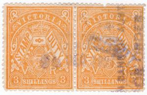 (I.B) Australia - Victoria Revenue : Stamp Duty 3/- (inverted watermark)