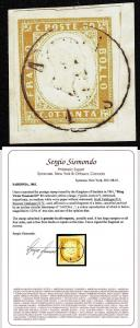 SARDINIA Sc 14 Sassone 17c w/Sismondo certificate