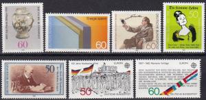 Germany #1366-7, 1369-73 F-VF Unused CV $9.60 Z373