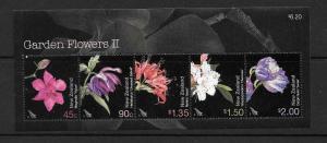 NEW ZEALAND SGMS2711 2004 GARDEN FLOWERS MNH